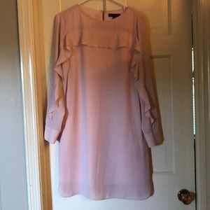 Blush long sleeved dress with pockets